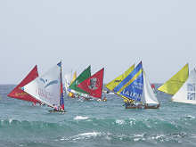 course de voile traditionnelle, Guadeloupe