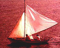 traditional sailing boat of Les Saintes, Guadeloupe